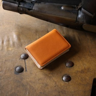 Japan Manufacturer's cowhide name one-piece name piece 橘 橘 红 Weinheimer made in JAPAN handmade leather card case