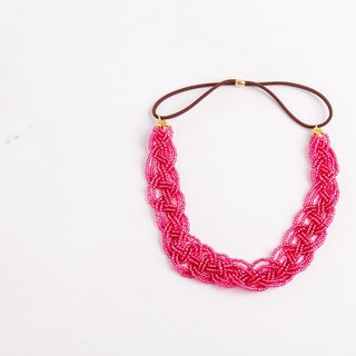 beads head band   cherryred   wide