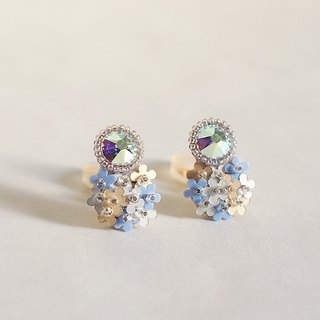 "Earrings ""bijoux & bouquet blue"""