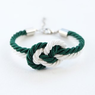 Christmas gift collection , White/Green Infinity bracelet