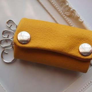 [Classic yellow] pig leather soft key case [MTO] yellow leather
