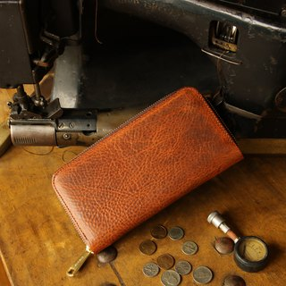 Japan manufactured cowhide cartoon pack brown color made in JAPAN handmade leather wallet