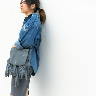 Fringe Backpack ( Blue) : The Undressed To go Blue Whale