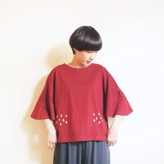rainy blouse : red