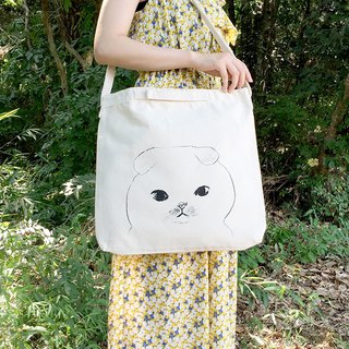 Scottish fold face 2 WAY shoulder bag