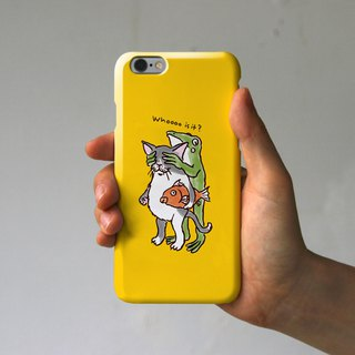iPhone case Who are you yellow?