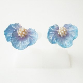 Flower Earrings / Earring Blue