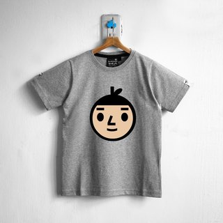 【BestFriend Kids】Jumbo BoyFriend Logo T-Shirt / 04-GRAY 童装