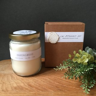 Hand-Poured Sandalwood Scented Candle - 250g | Rustic Favor | Gift