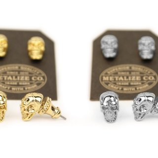 【METALIZE】F.T.W Skull Earrings Type2 F.T.W骷髅耳环Type2