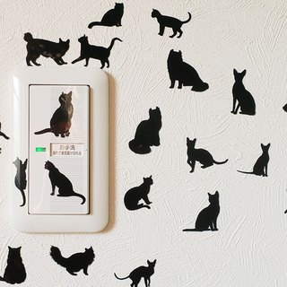 Sticker full of cats / sticker No. 1 (black)