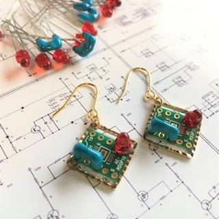 【Electronic Zero】 Electronic parts on PCB Earrings