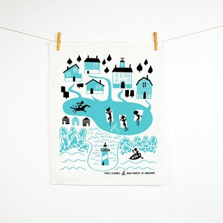 Forest & Waves桌巾/新英格兰 New England Teatowel