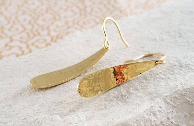 Golden Drop ☆ drop earrings 3 gold