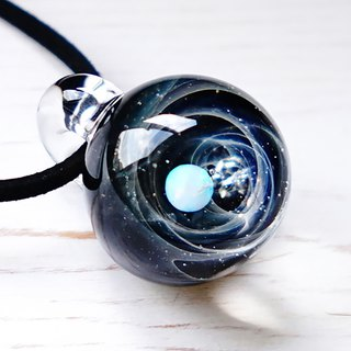 Planet Meteorite World White Opal ver 2 Meteorite Glass Pendant Universe