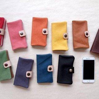 Swine leather * Made to order [Smoho notebook type] Multi-machine type * 10 colors (iphone 7, xperia, galaxy) leather