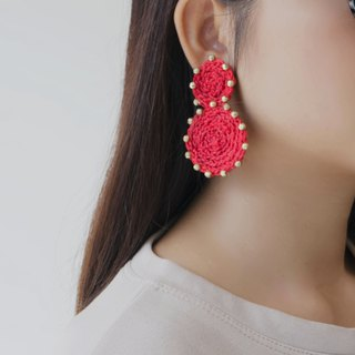 Rachaburi earrings (clip-on / piercing)