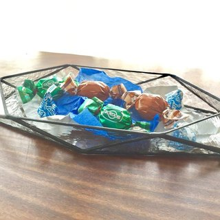 Stained glass tray · Bateau (clear)