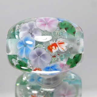 Morning glory and goldfish dragonfly glass beads