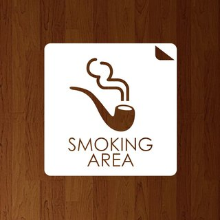 SMOKING AREA Cutting Sticker Type A