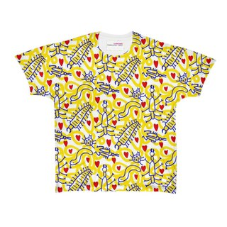 Yellow bugs t-shirt by PRINTS.HARRY