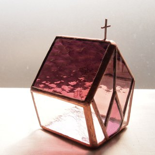 Templum Red purple candle holder