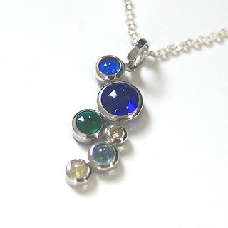 Silver × glass Bubble pendant