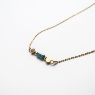 琉璃锁链项链 (绿) - Glass Chain necklace (green)