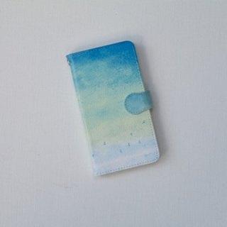 "Orders production] pocketbook type Android case ""blue, sky."""