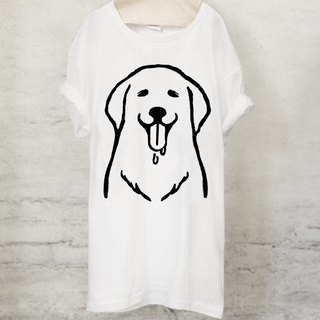 Golden retriever T-shirt Golden retriever T-shirt (White / Gray) 【DOG】
