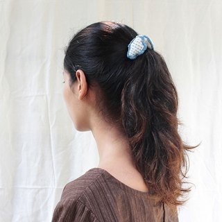 linnil: Double Cloud hair band / hand stitch / elastic