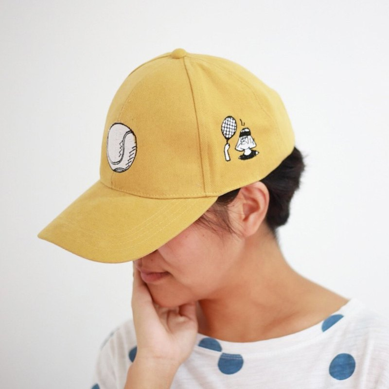 sport funny cap tennis yellow colour
