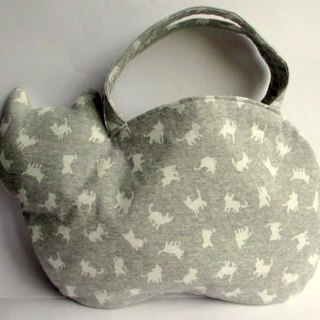 New work New pattern * Cat cat pattern bag * Gray