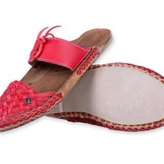 Funk Red Handmade Leather Women Shoes