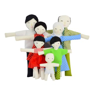 NEW VERSION _ Family of dolls   - 娃娃 - 雪人家庭 - Playset - Doll house