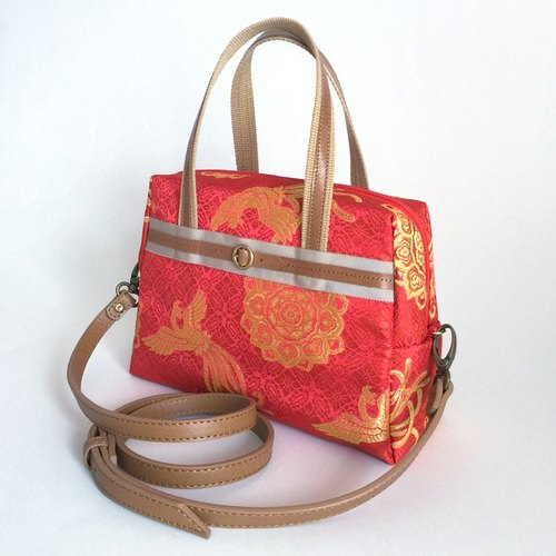 Shoulder bag with Japanese Traditional pattern, Kimono - 2WAY [brocade]