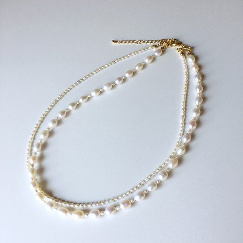 【Birthstone in June】 Freshwater Pearl 2 Necklace