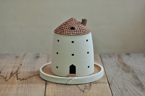 Aroma pot like a house / brown