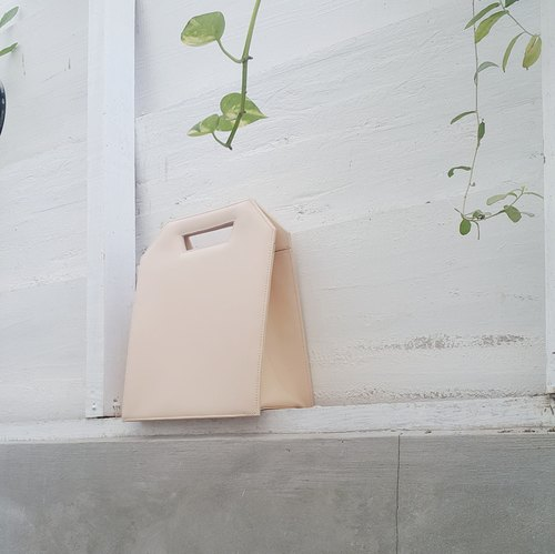 [Limited Edition] Nude Mini Kontur - minimalist structured leather bag