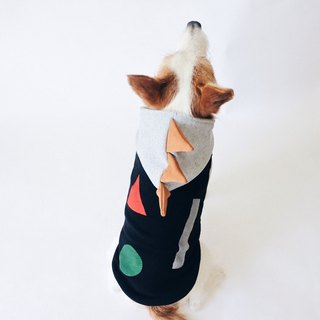 Dog Hoodie Dino Dog / Blocks