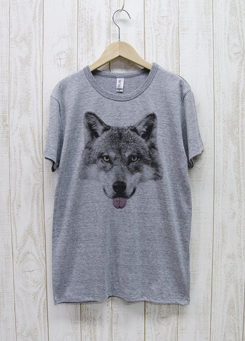 ronronWOLF Tee Beh (Heather Gray) / RPT 003 - GR