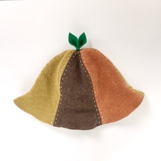 That is enormous! Linen wool leaf hat three colors
