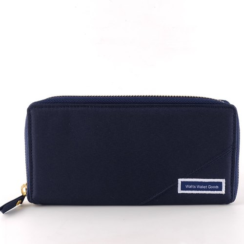 Zipper Wallet | Wallace Navy-Red