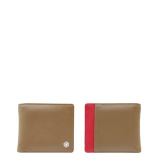 IVERSEN Timo Wallet in Taupe / Red