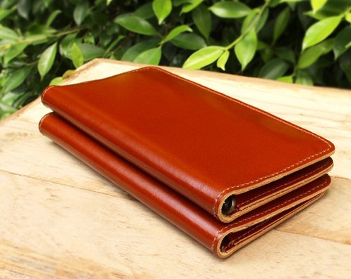 Wallet - My2 - Tan (Genuine Cow Leather) / Leather Wallet / Long Wallet