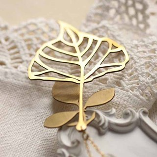 Gloden Leaf Charm Necklace / Linen Jewelry / Gold Leaf Necklace / Everyday Jewelry.