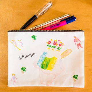 hula shave ice flat pouch M size ! You can also use it as a pen case!