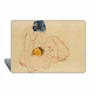Schiele Two Friends nude Macbook case MacBook Air MacBook Pro Retina art 1816