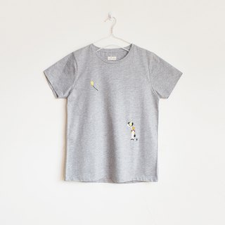 balloon boy t-shirt : gray