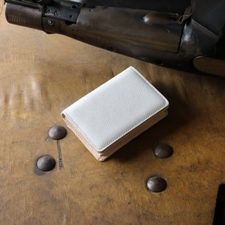 Japan manufactured cowhide name one piece name piece cup white Weinheimer made in JAPAN handmade leather card case
